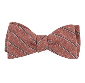Orange Pike Stripe bow ties