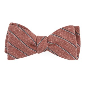 pike stripe orange bow ties