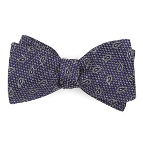 Purple Pine Lake Paisley bow ties