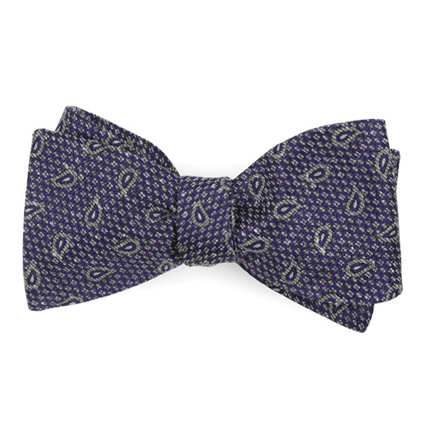 Purple Pine Lake Paisley Bow Tie