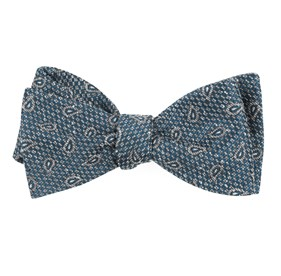 Teal Pine Lake Paisley bow ties