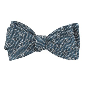 pine lake paisley teal bow ties