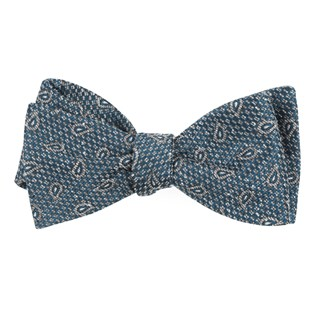 Pine Lake Paisley Teal Bow Tie
