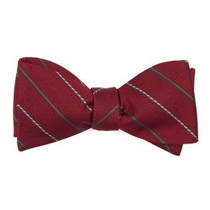candy cane stripe red bow ties