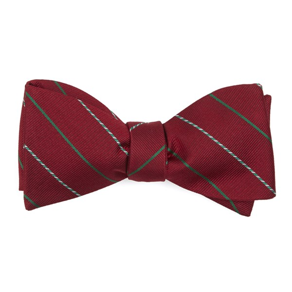 Red Candy Cane Stripe Bow Tie