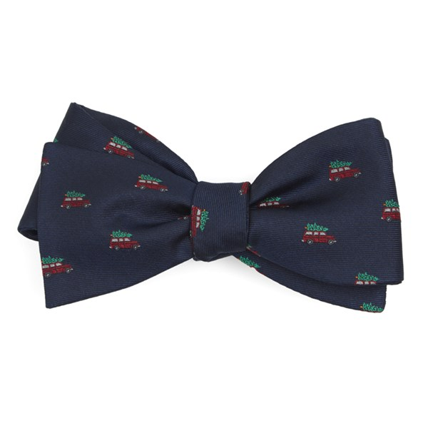 Navy Christmas Vacation Bow Tie