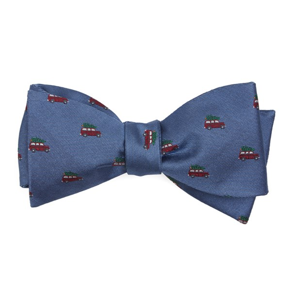 Light Blue Christmas Vacation Bow Tie