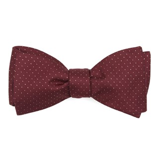 flicker burgundy bow ties
