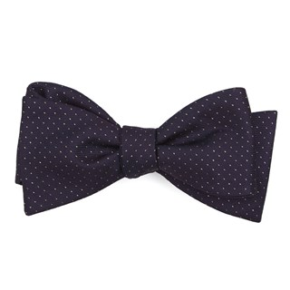 Flicker Eggplant Bow Tie