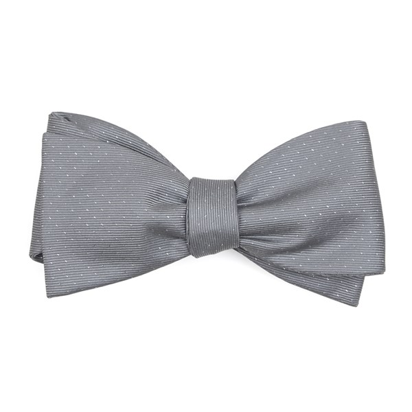 Silver Flicker Bow Tie