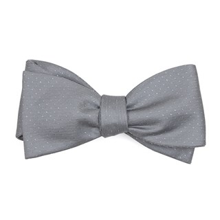 flicker silver bow ties