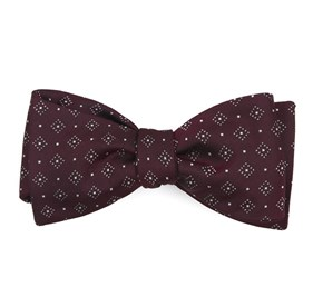 Burgundy Gemstone Gala bow ties