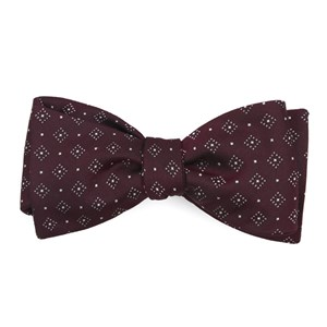 gemstone gala burgundy bow ties