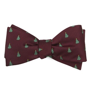 o christmas tree burgundy bow ties