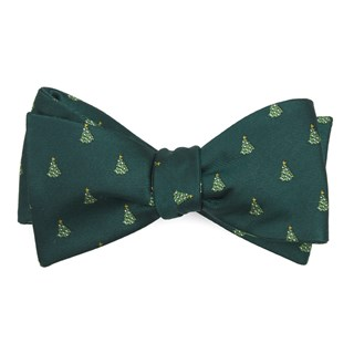 O Christmas Tree Hunter Green Bow Tie