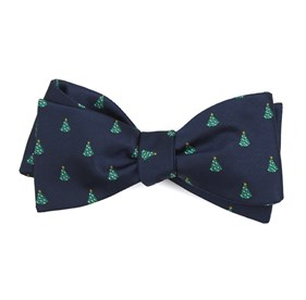 navy o christmas tree bow ties