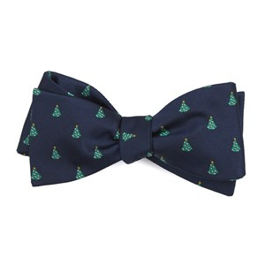 o christmas tree navy bow ties