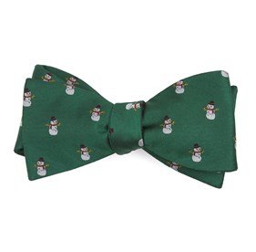 Kelly Green Snowman Goals bow ties