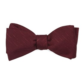 Burgundy Solid Trace bow ties