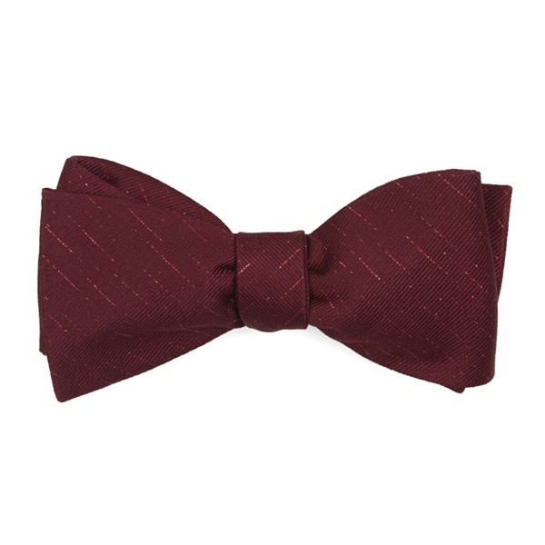 Burgundy Solid Trace Bow Tie