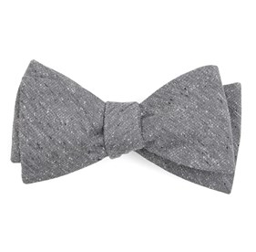 Grey West Ridge Solid bow ties