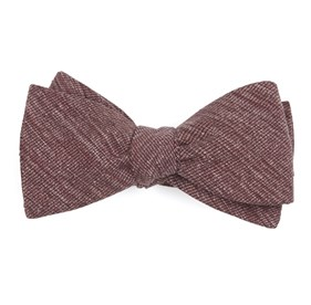 West Ridge Solid Burgundy Bow Ties