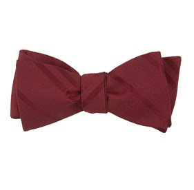 Burgundy Wool Path Stripe bow ties