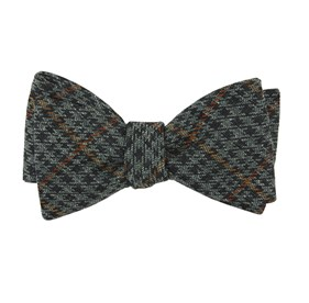 Moss Green Quinn Plaid bow ties