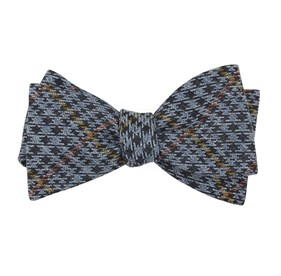 Light Blue Quinn Plaid bow ties