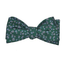 Kelly Green Free Fall Floral boys bow ties