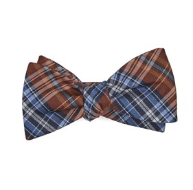 Orange Motley Plaid bow ties