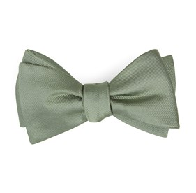 Grosgrain Solid Sage Green Bow Ties