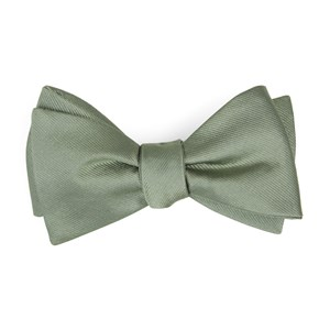 grosgrain solid sage green boys bow ties