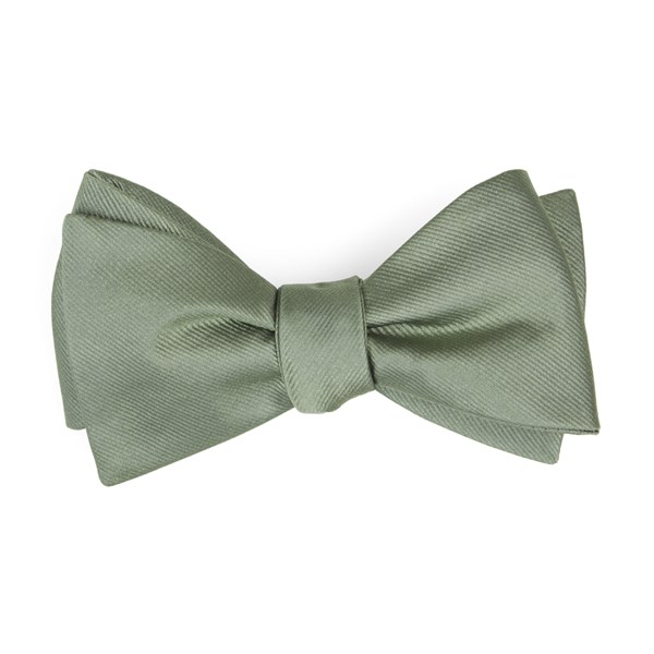 Sage Green Grosgrain Solid Bow Tie