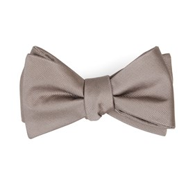 Sandstone Grosgrain Solid bow ties