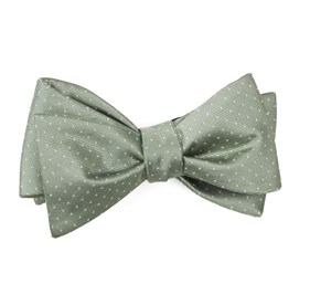 Sage Green Mini Dots bow ties