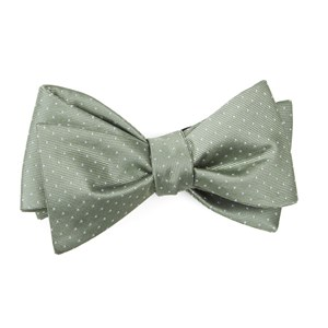 mini dots sage green boys bow ties