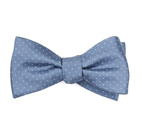 Mini Dots Slate Blue Bow Ties