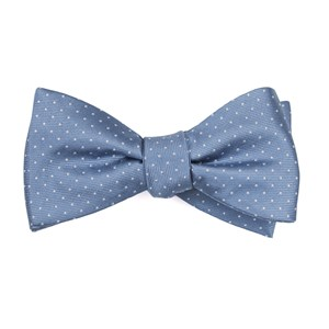 mini dots slate blue boys bow ties
