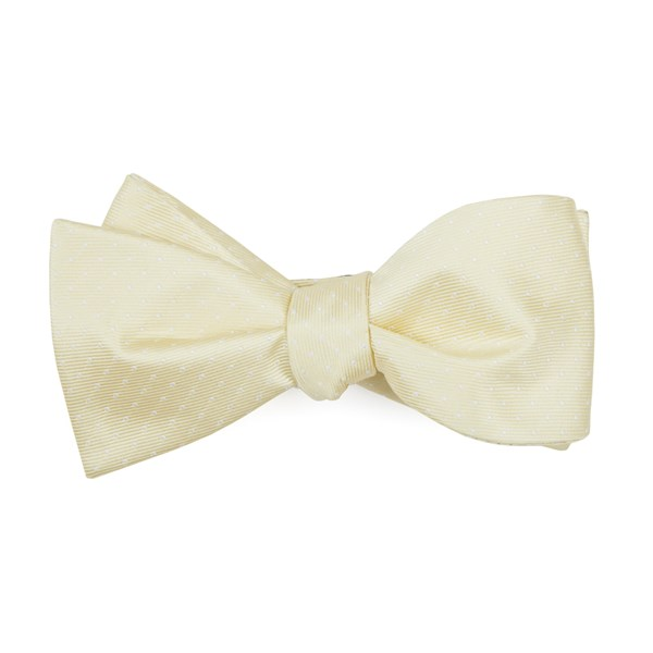 Butter Mini Dots Bow Tie