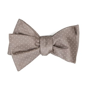 mini dots sandstone bow ties