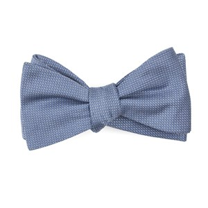 union solid slate blue bow ties