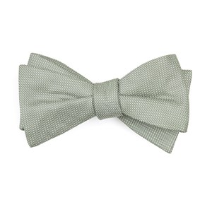 union solid sage green bow ties