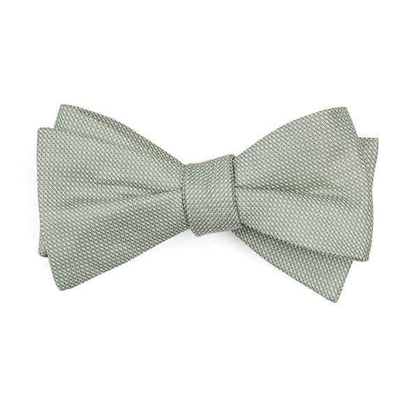 Sage Green Union Solid Bow Tie