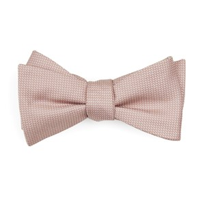 union solid blush pink bow ties