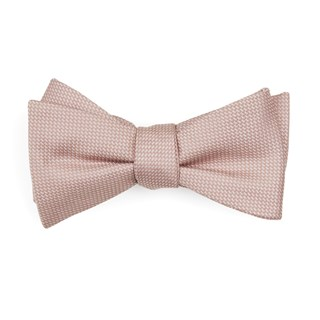 Union Solid Blush Pink Bow Tie