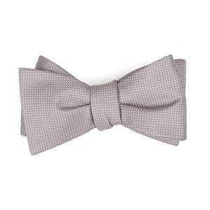 union solid mauve stone bow ties