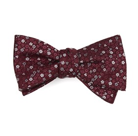 Flower Fields Burgundy Bow Ties