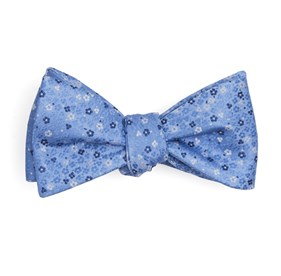 Light Blue Flower Fields bow ties