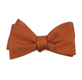 Jackson Dots Orange Bow Ties